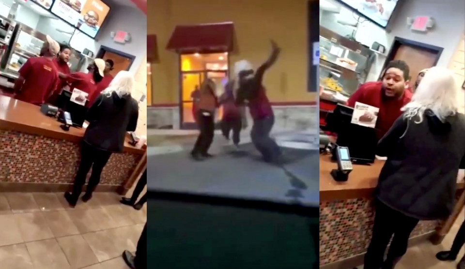 The female customer received six cracked ribs and a broken knee all because of a disagreement at Popeyes over the new sandwichhttps://www.waynedupree.com/popeyes-employee-body-slams-female/