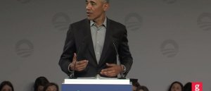 Obama exploits teen activist to promote his foundation