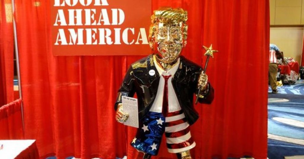 What Is Your Opinion? MAGA Loyalists Roll Out 'Golden Trump' Statue At CPAC - Was It Too Much?