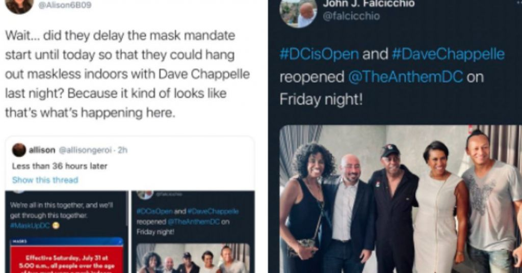 DC Mayor Caught Without A Mask Just Before She Criticized The Maskless