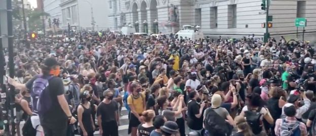Crowd Gathers For 'Occupy City Hall' Protest In New York City
