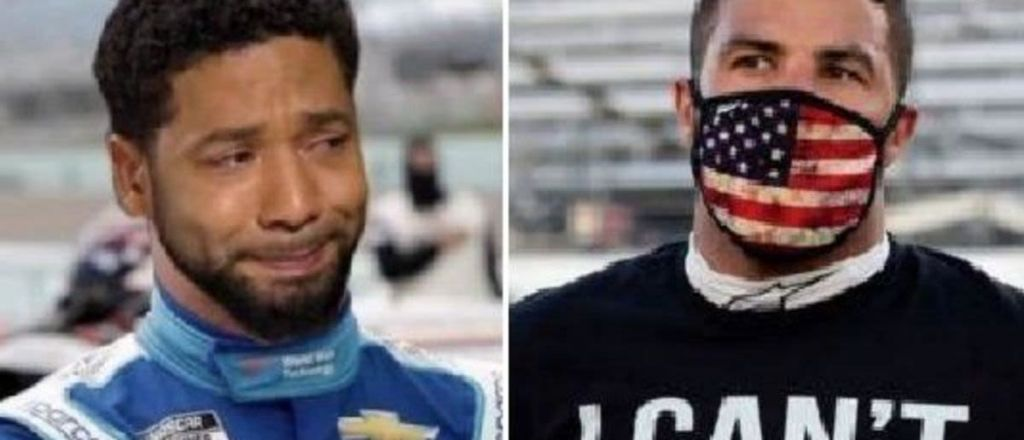 FAKE NOOSE: Trending On Twitter #BubbaSmollett After NASCAR's Bubba Wallace Hate Hoax Exposed