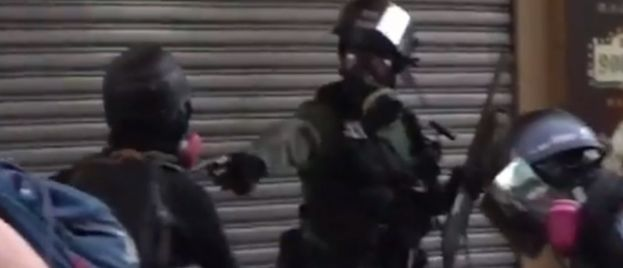 Video: Riot Police Shoots Hong Kong Protester in Chest With Live Round