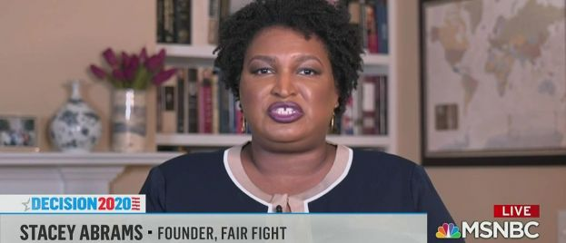 """VP Hopeful Abrams Says Voter Fraud """"Fake News"""" – After Whining About It in 2018 Loss"""