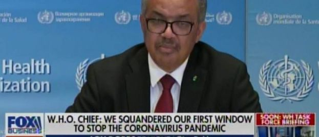 "STUNNING! WHO Director Says ""World Was Slow to React to Coronavirus"" After He Claimed in January Coronavirus Could Not be Spread by Human-to-Human Contact (Video)"