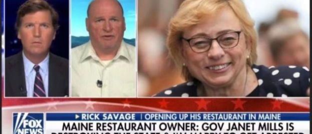 STATE TYRANNY: Maine Yanks Licenses From Restaurateur Who Defied Lockdown, Went On Tucker To Castigate Governor