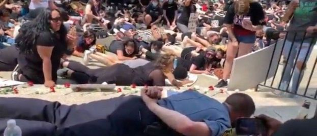 Massachusetts Police Chief Disgraces Himself by Laying Face Down on Pavement to Appease Black Lives Matter Protesters (VIDEO)