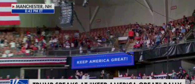 Thousands of Trump Supporters Locked Out of Rally as Hundreds of Empty Seats in New Hampshire Arena Went Unfilled