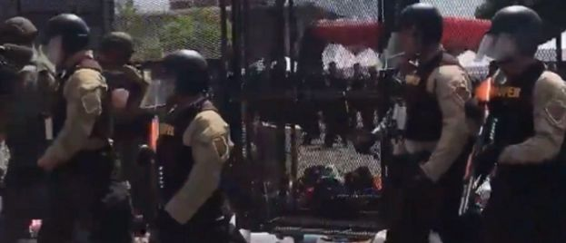 'Total Chaos' Outside Trump Rally as Protesters Take Over Boulder Ave, National Guard Moves In