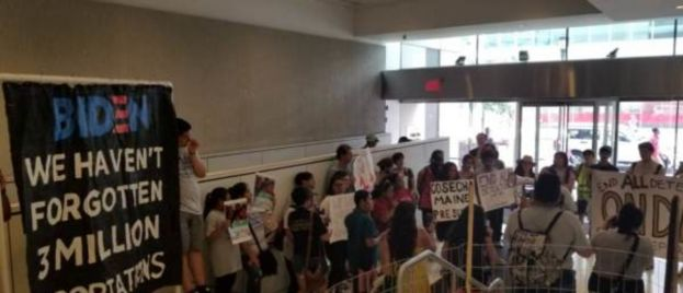 Illegal Immigrant Families Separated Under Obama Admin Staging Sit-In at Biden Campaign Headquarters