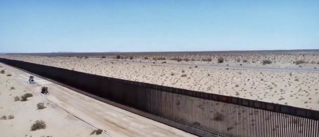 WINNING: Feds Releases Drone Footage Of New 60-Mile Section Of 18-Foot High Border Wall
