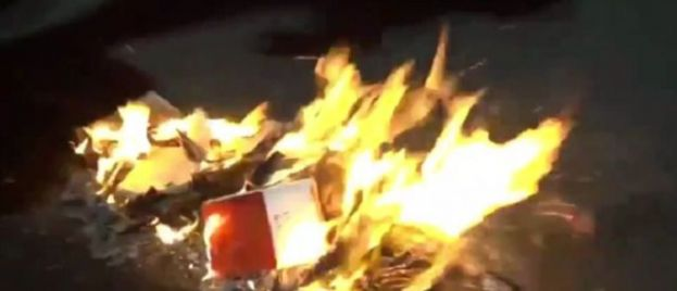Portland Protesters Burn Stack of Bibles Outside Besieged Federal Courthouse